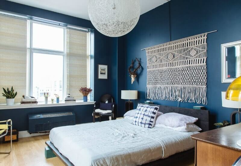 Captivating Navy Blue Bedroom Walls