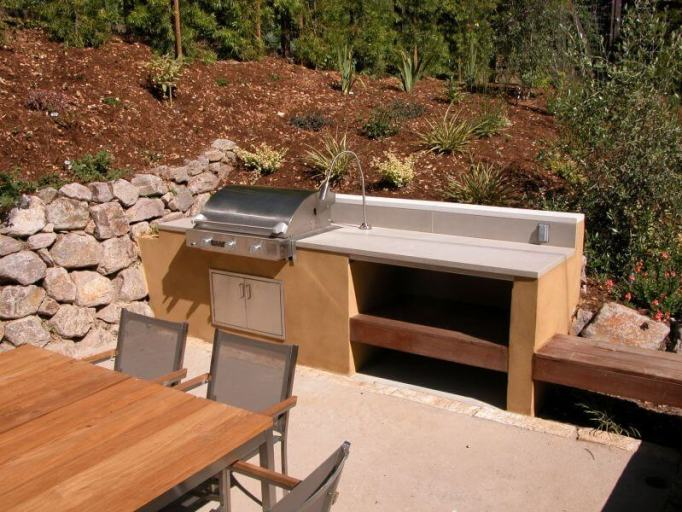 simple outdoor kitchen ideas