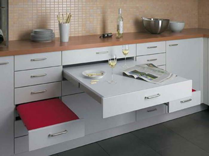 Drawer Small Kitchen Table