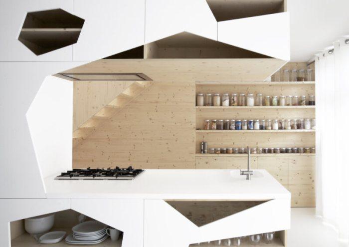Geometric Modern Kitchen Cabinets