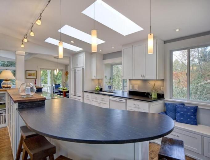 Natural Lighting for Kitchen Island