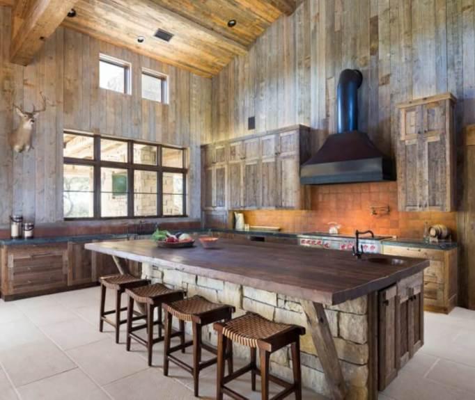 Stunning Stone Rustic Kitchen Island