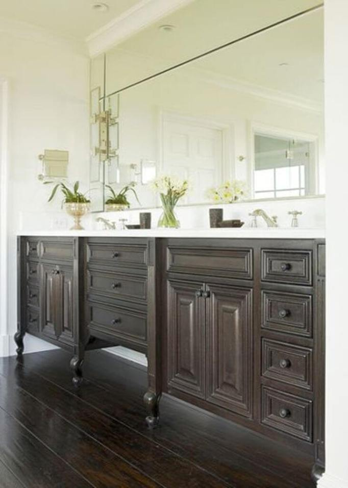 double bathroom sink and vanity