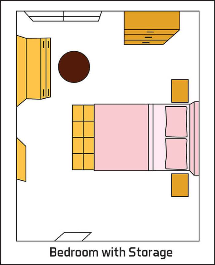 Bedroom Layout Tips with Storage