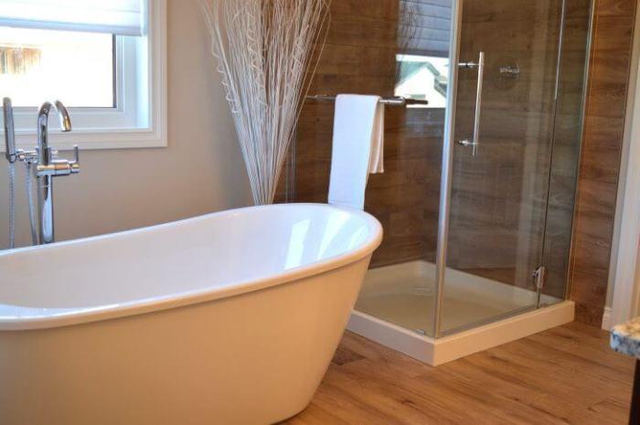 Contemporary Bathroom with Shower Room