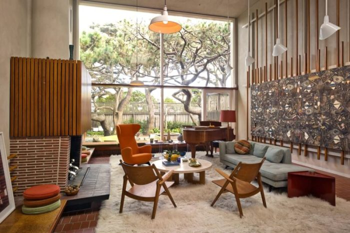 mid century living room furniture