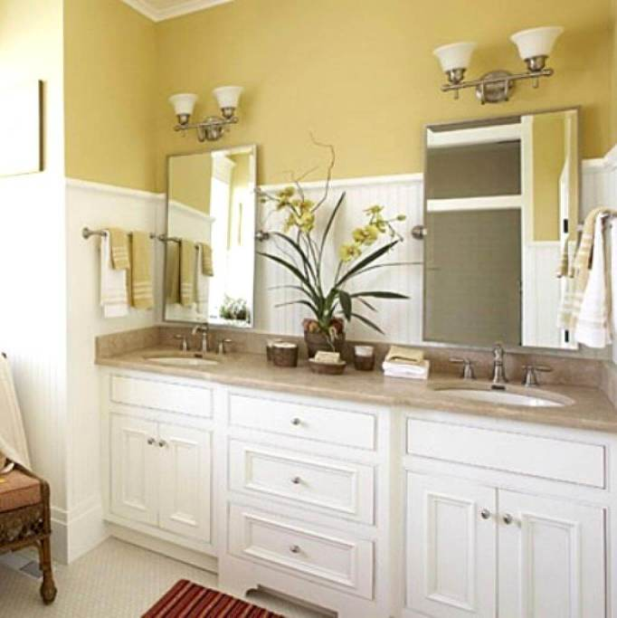 pictures of double sink bathroom vanities