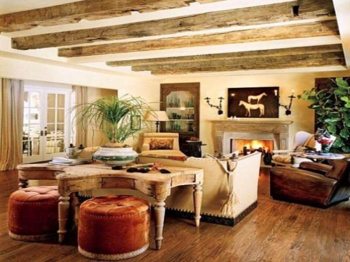 rustic living room furniture