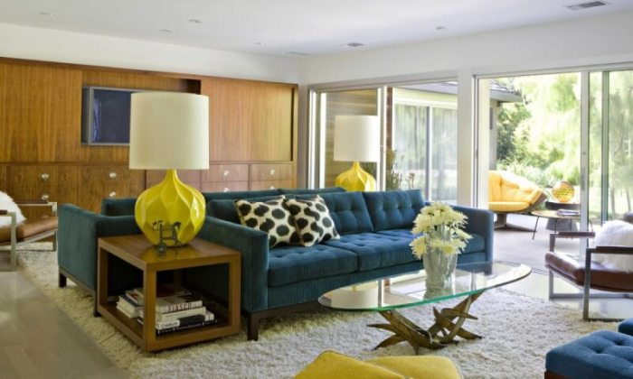 Large Mid Century Modern Living Room