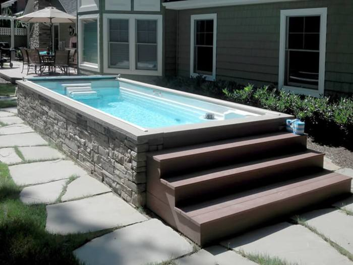 These 15 Above Ground Pool Ideas Win Over the In-Ground Ones ... on narrow backyard landscaping, buttress narrow pools, narrow swimming pools, chic swimming pools, narrow pool waterfalls, narrow bar stools, narrow pool landscaping, in ground lap pools, narrow pool tables, gunite swimming pools, glass wall with narrow pools, backyard pools, narrow french labels, portable lap pools, inground pools,