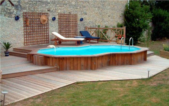Unique Shaped Above Ground Pool Ideas