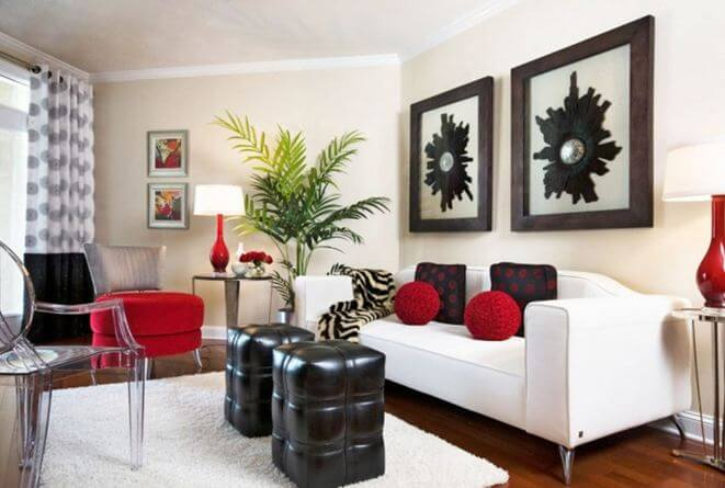 red and white living room rooms design 16 stunning ideas for any styles reverb with accents