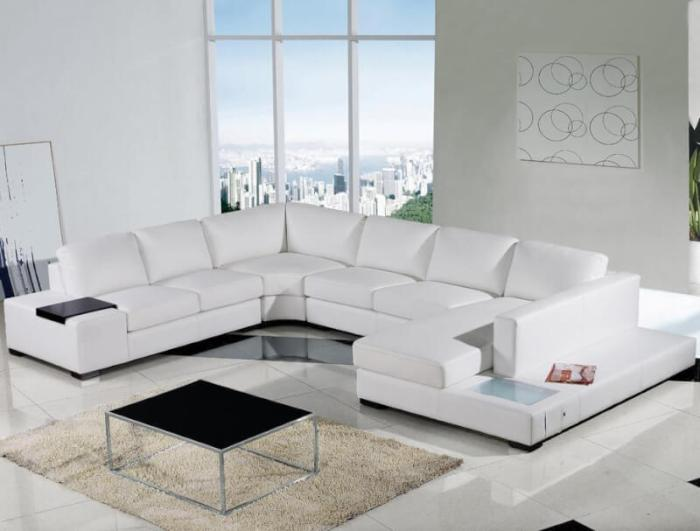 White Living Room with Spectacular Landscape