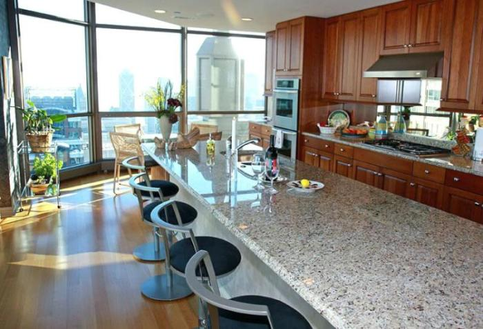 extra large kitchen island with seating