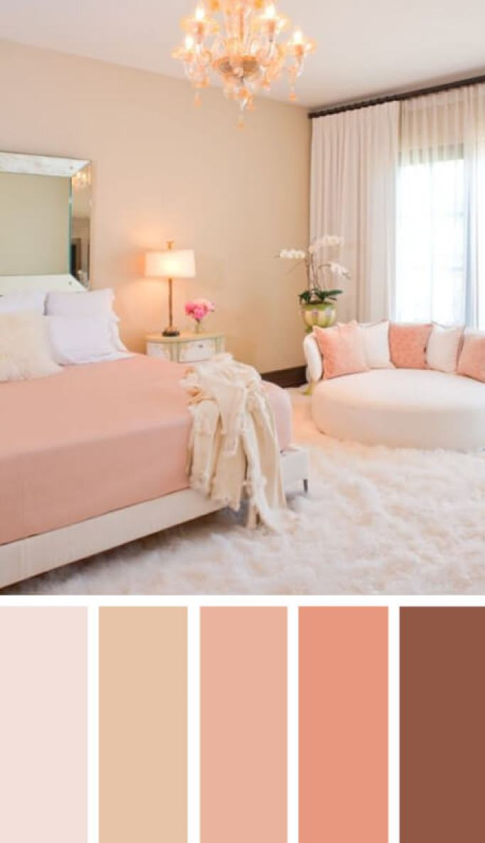bedroom colour schemes pink