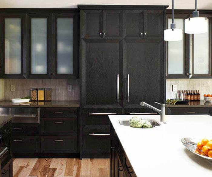 black kitchen cabinets pictures