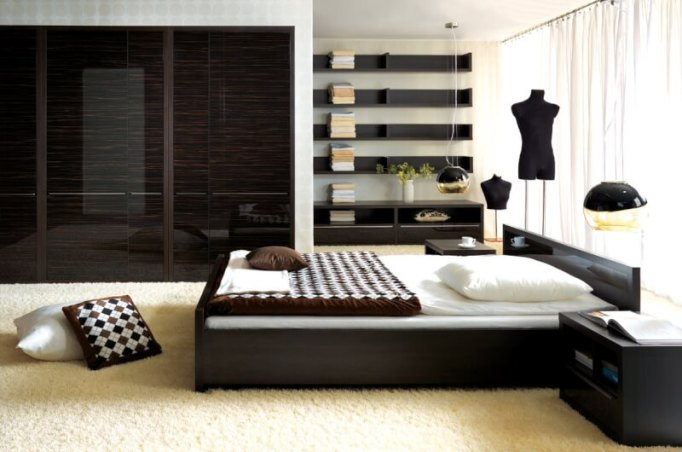 modern king size bed frame