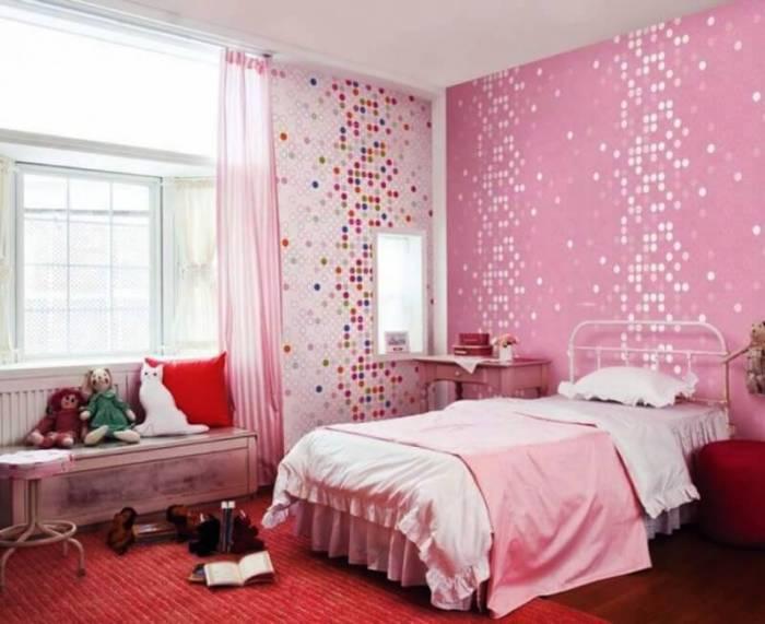 pink bedroom background