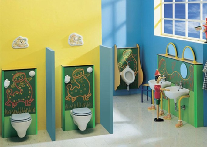 blue bathroom accessories sets