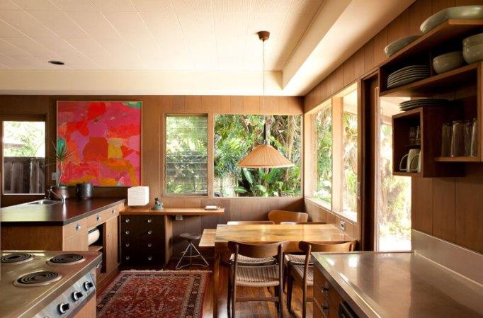 mid century modern kitchen backsplash tile