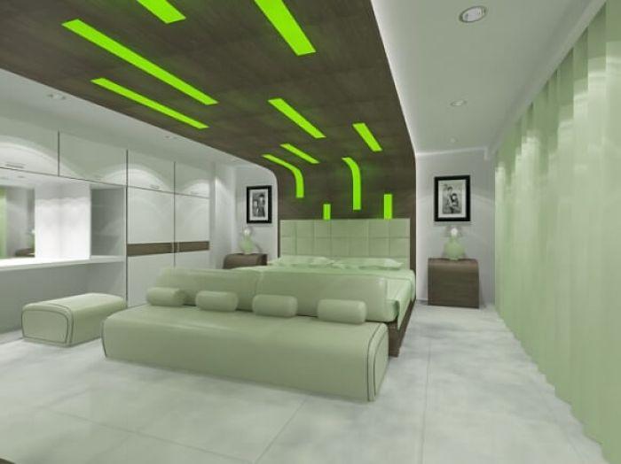 green bedroom decorations