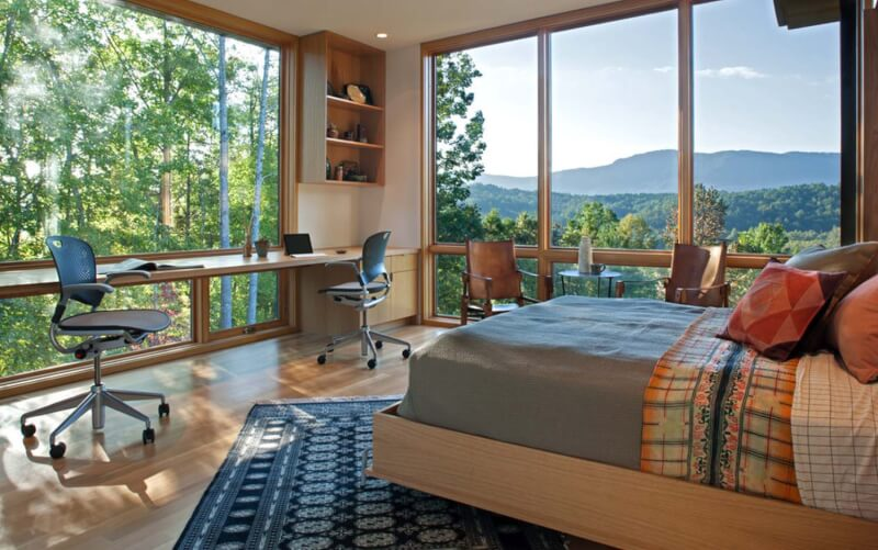 Home Office Bedroom with a View