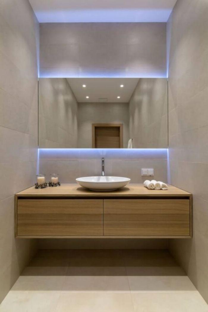 Sleek Farmhouse Bathroom