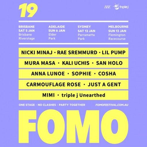 News Fomo Unveils Massive 2019 Line Up Reverb Magazine Online