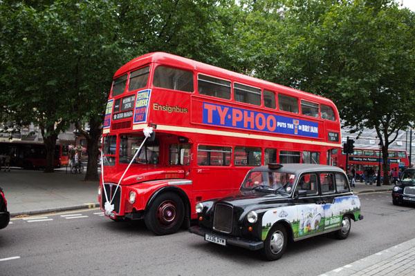 Double decker Londres et London cab
