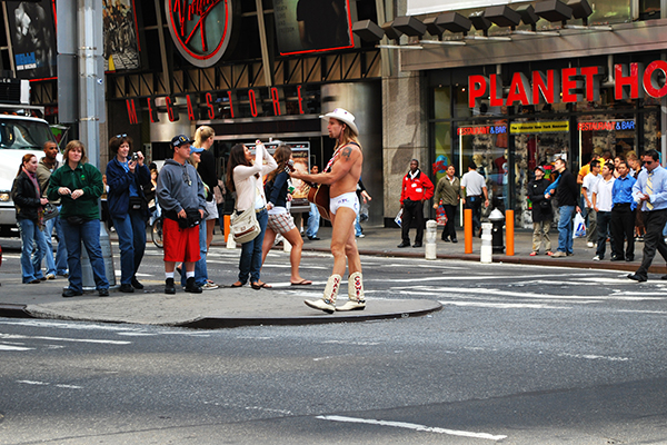 The Naked cowboy in NYC
