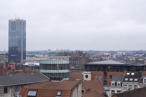 Bruxelles vue du Palais de Justice (moi j'y vois la Tour Montparnasse)