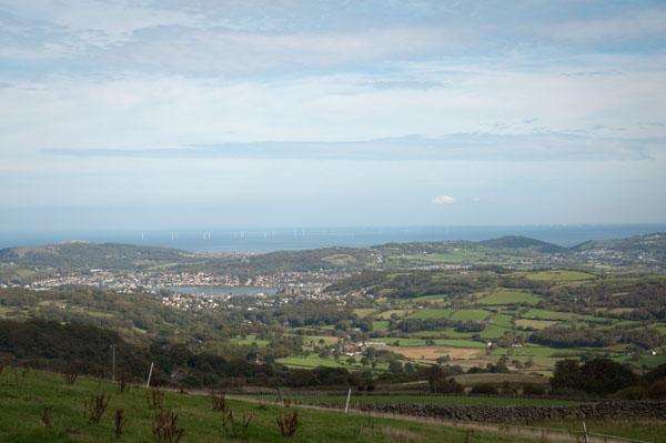 Point de vue sur la vallée de Conwy