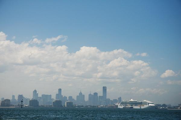 Melbourne vu de Hobsons bay