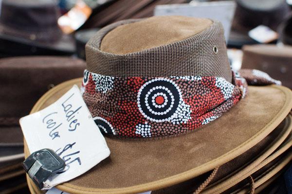Chapeau australien en cuir