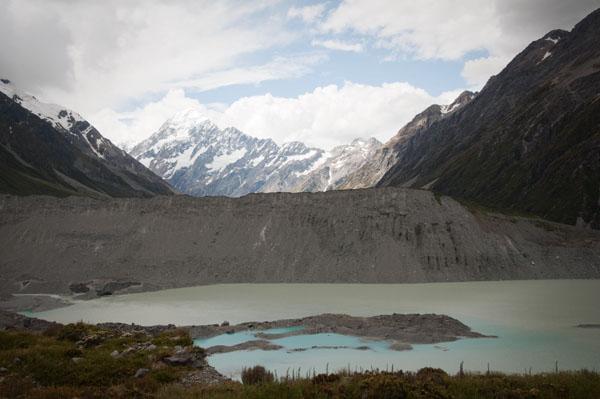 Mont Cook fonte de la glace