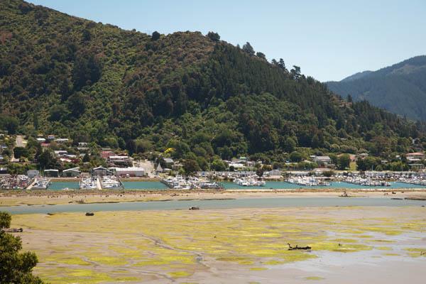 Waikawa Bay proche de Picton en Nouvelle-zélande