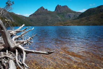 Dove Lake à Craddle Moutain en Tasmanie