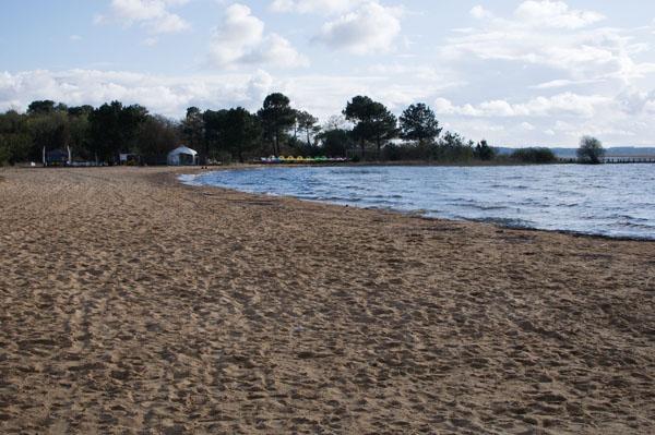 Accès à la plage privée de La Rive Biscarosse
