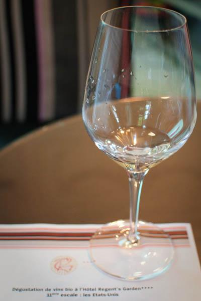 Dégustation de vin bio USA