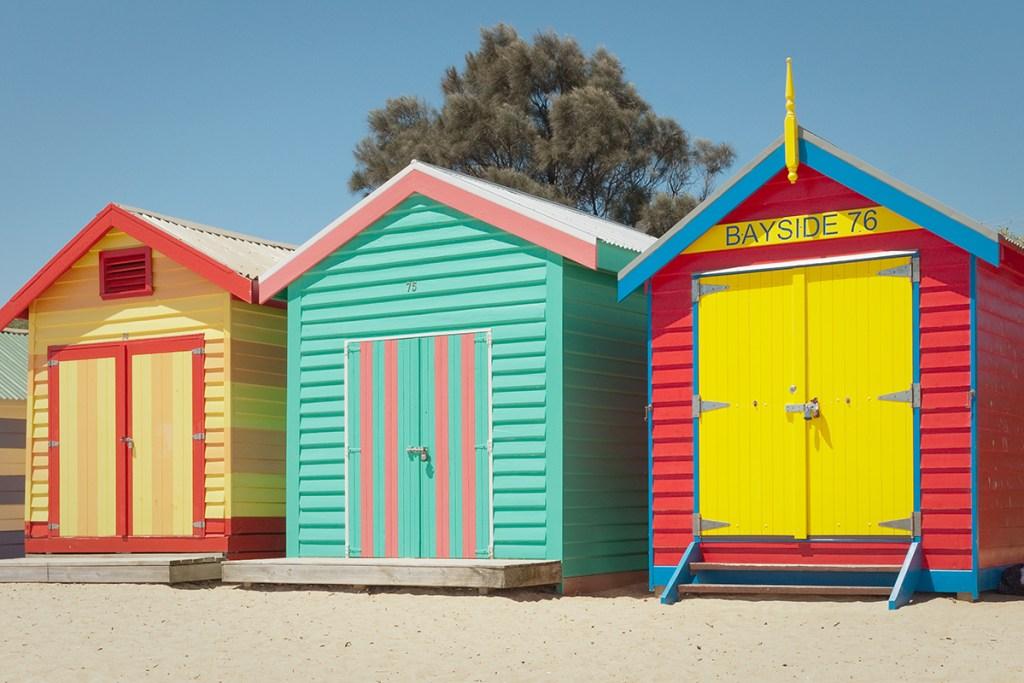 Les cabines de bain à Melbourne
