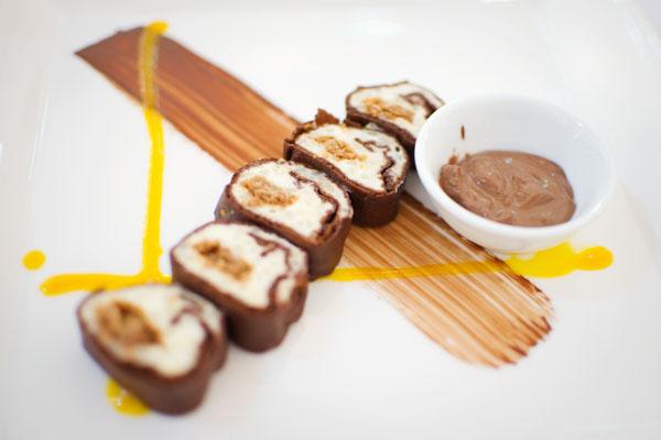 L'Assise - Dessert : Makis tout chocolat façon bretonne