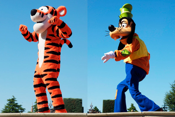 Tigrou & Dingo - Personnages Disneyland