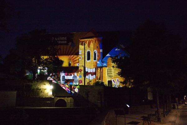 Collégiale Saint André pour Chartres en Lumières 2013