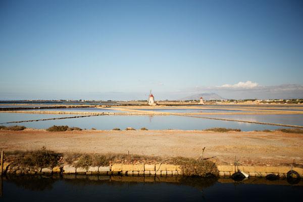 Point de vue sur Isola di Mozia en Sicile