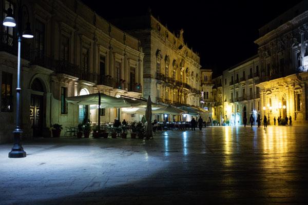 Balade de nuit à Ortigia, Sicile