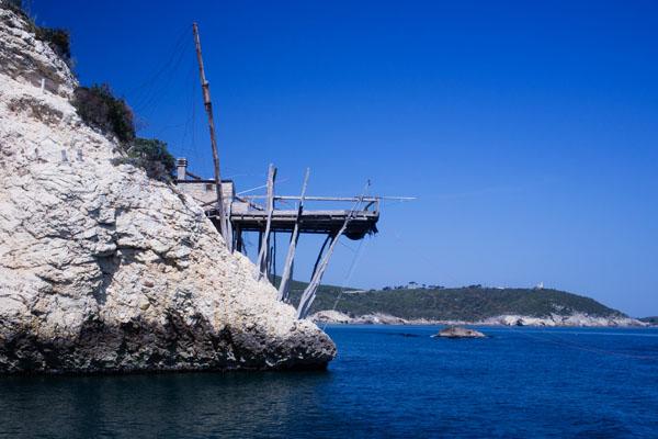 Gargano - Trébuchet pour la pêche en mer