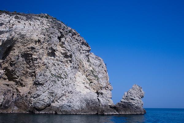 Le visage du Gargano dans Les Pouilles en Italie