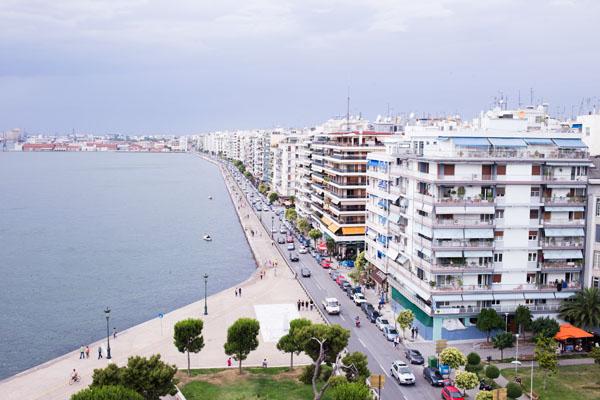 Vue sur la baie de Thessalonique