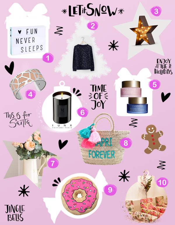 Liste de cadeaux de Noël 2016 pour Femme