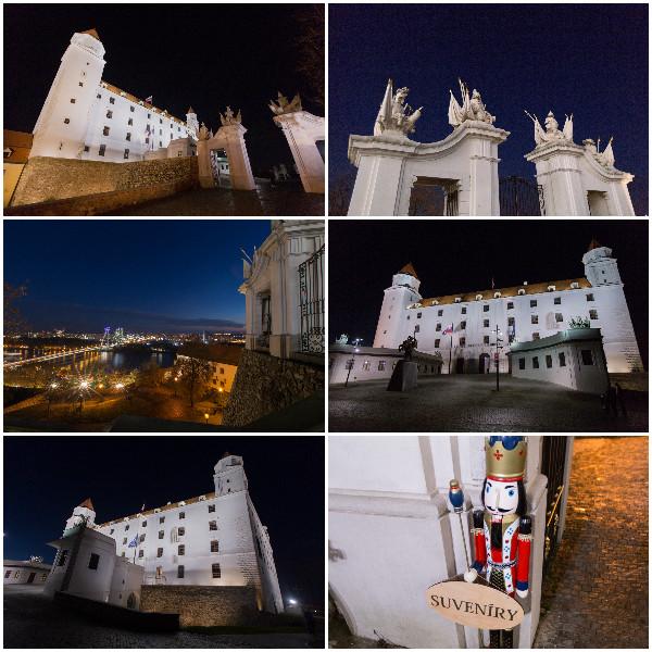 Chateau de Bratislava de nuit